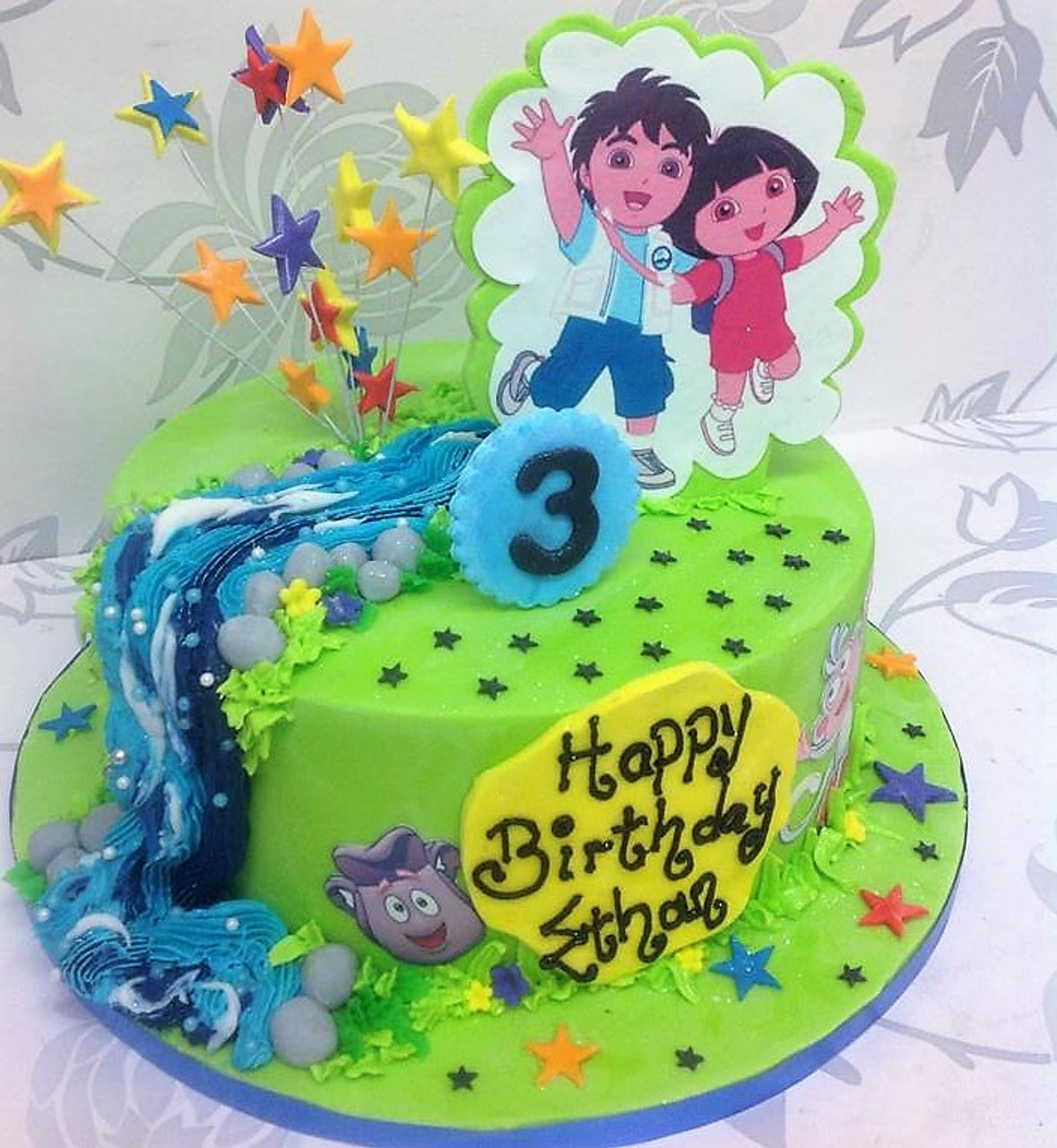 Excellent Dora The Explorer Cake Aberdeen Personalised Birthday Cards Veneteletsinfo