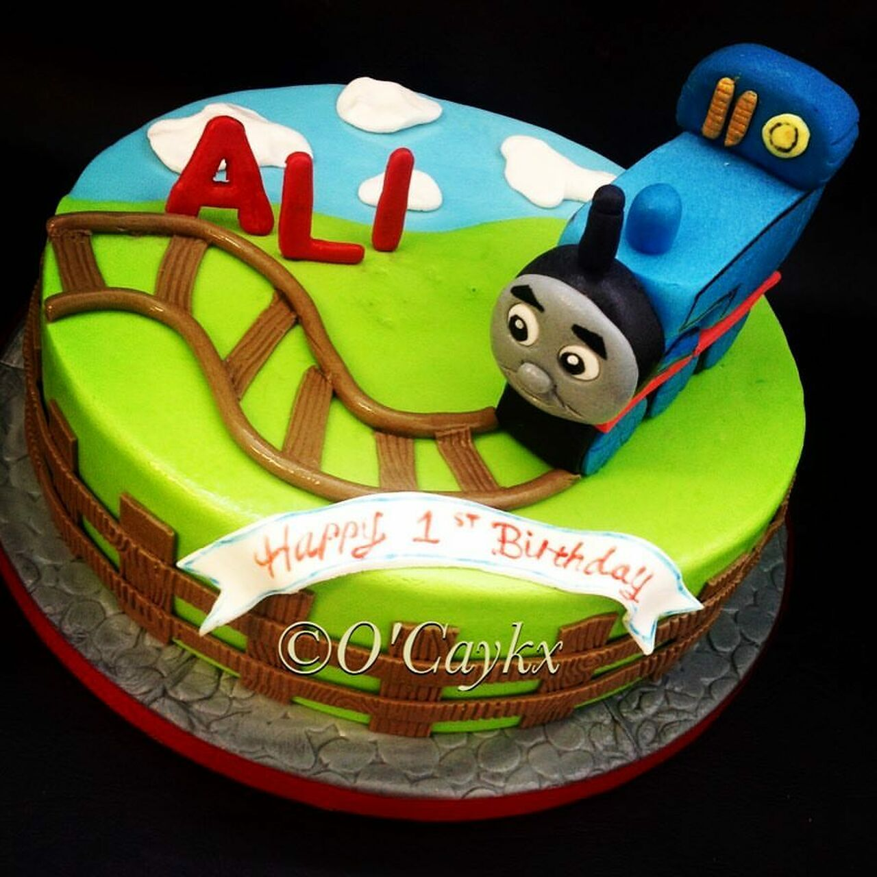Terrific Thomas The Tank Engine Cake Aberdeen Personalised Birthday Cards Sponlily Jamesorg