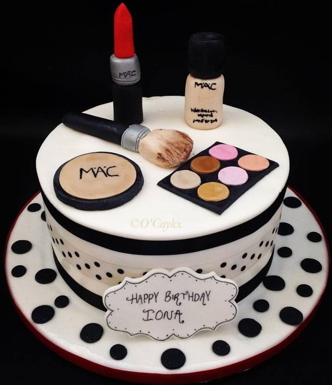 Excellent Mac Makeup Cake Aberdeen Personalised Birthday Cards Sponlily Jamesorg