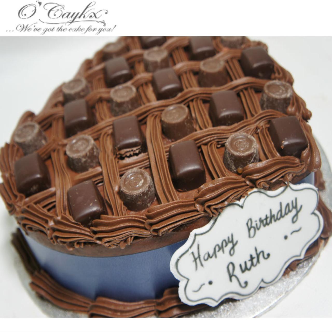Love Heart Chocolate Box Cake