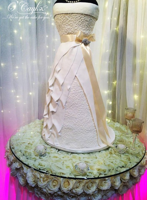 Bridal Dress Wedding Cake