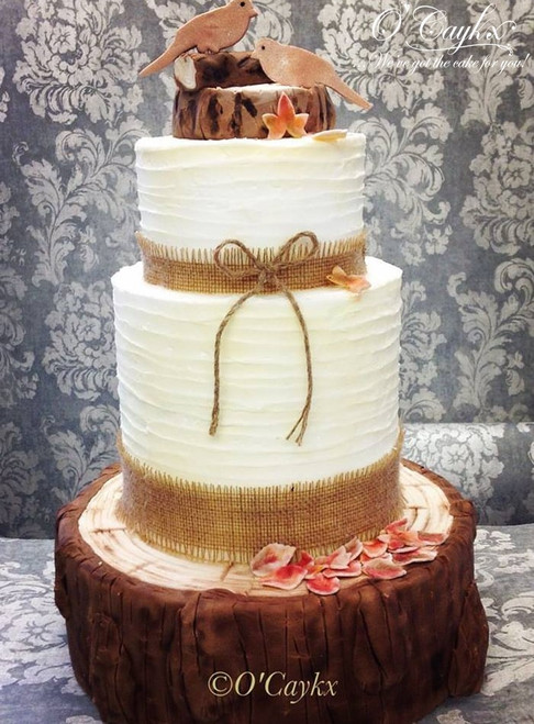 Rustic & Bark Wedding Cake