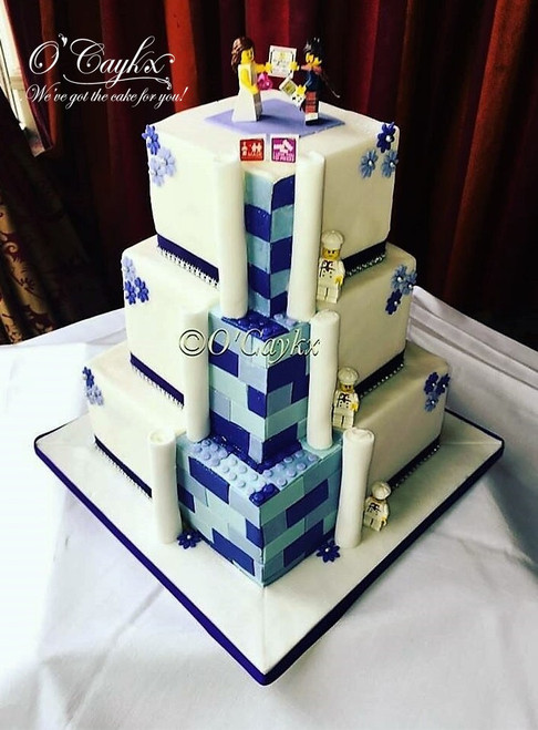 Lego Themed Wedding Cake