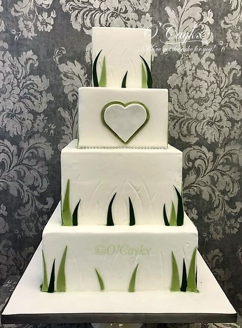 Fern Lines Wedding Cakes