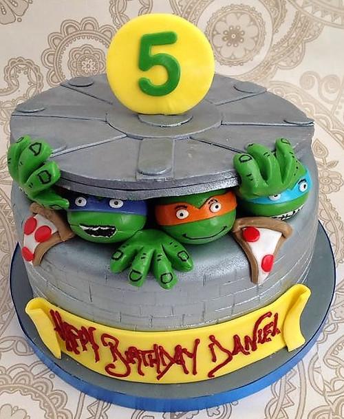 Teenage Mutant Turtle Cake