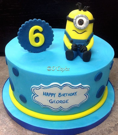 Minion Topper Cake