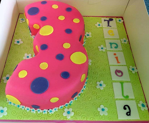 Number Cake for Girls
