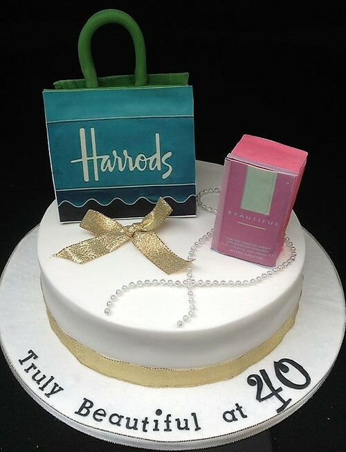 Harrods Bag and Perfume Cake