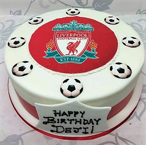 Liverpool Football Club Photo Cake, Liverpool Cake,