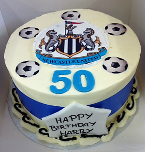 Newcastle United Buttercream Photo Cake