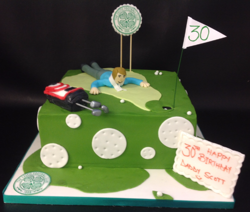 Golf Themed Cake with Celtic Logo