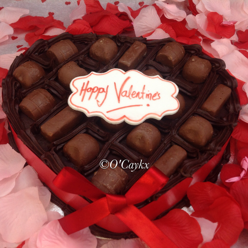 Love Heart Chocolate Box Cake
