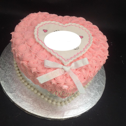 Buttercream Swirl Love heart Cake