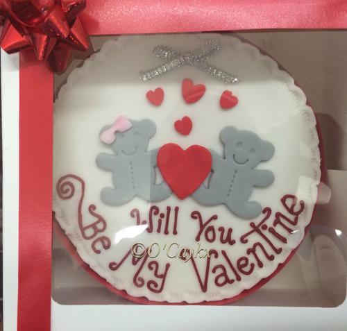 Valentines Teddies Cake