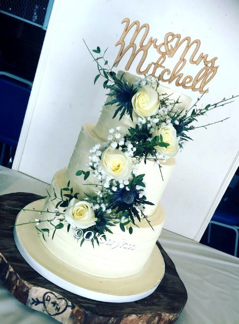 Water Colour Effect Wedding Cake