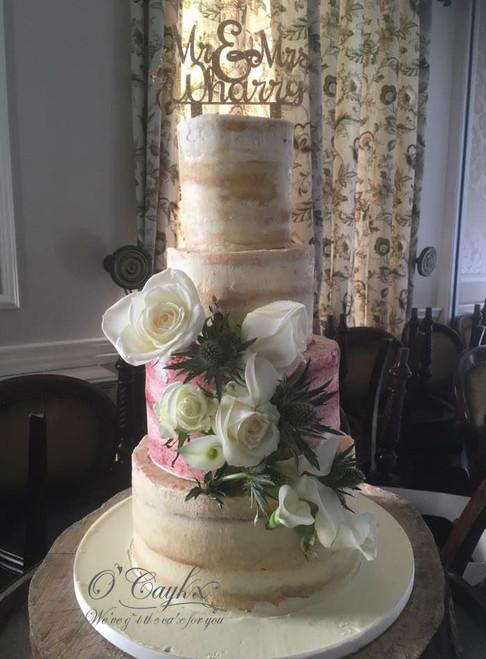 Semi Naked Wedding Cake - WC00182