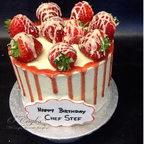 Strawberry Drip Cake