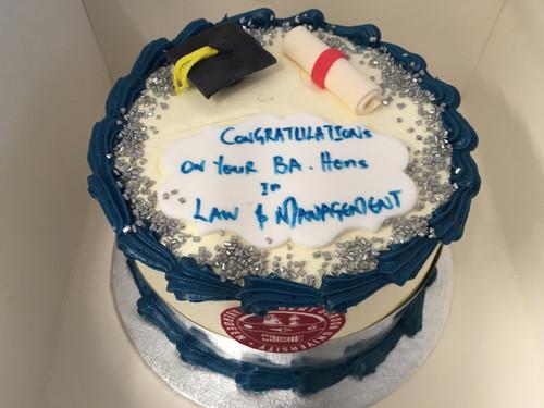 Buttercream Graduation Cake with logo