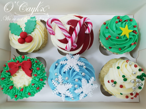 Christmas Cupcakes Selection - CH00019