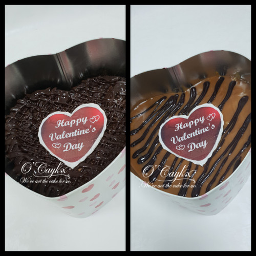 Rich Brownie in either Rich Chocolate or Salted Caramel. Presented in a love heart keepsake tin. The brownies will keep for at least 2 weeks when stored in this airtight tin. Great for a brownie lover!!