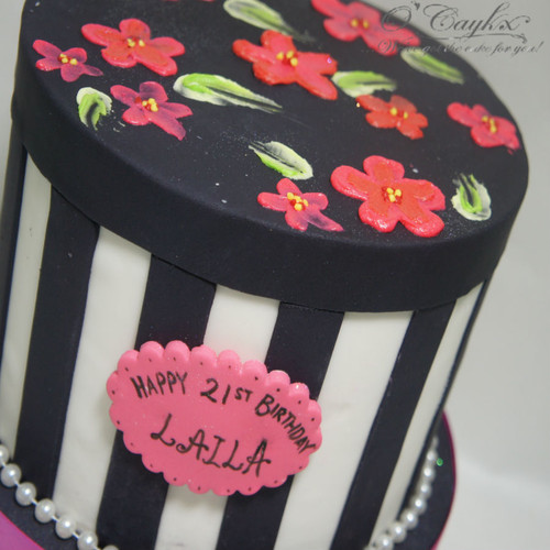 Floral Gift Box Cake