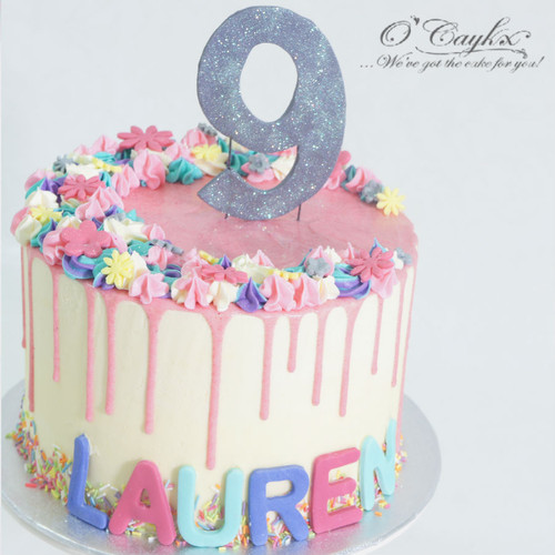 Pretty Pink Drip Cake