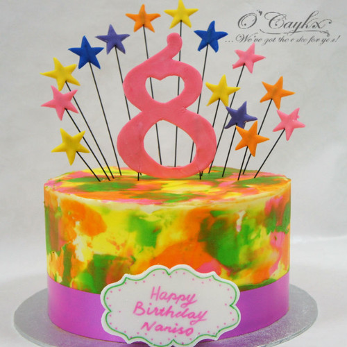 Colour Burst Buttercream Cake
