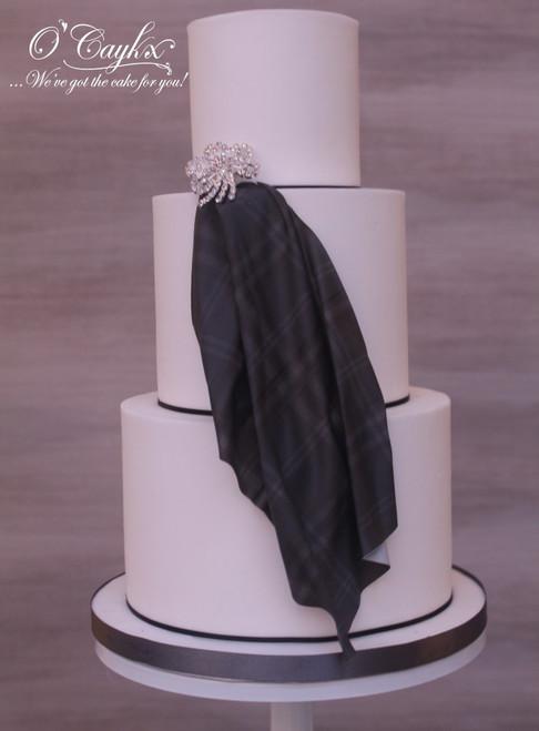 Wedding Cake with Tartan Drape - WC00185