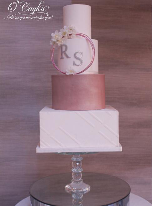 Wedding Cake with Flora Ring