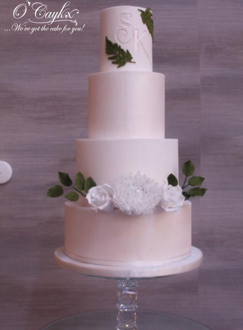 Wedding Cake with Foilage