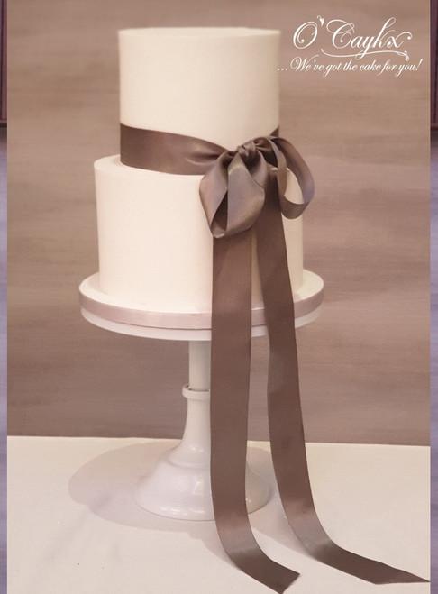 Silk Bow Wedding Cake  - WC00196