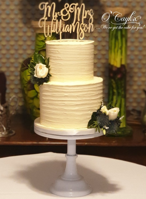 2 Tier Rustic Wedding Cake