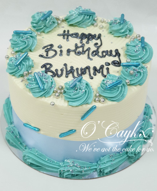 Blue Bling Buttercream Cake - BC0089