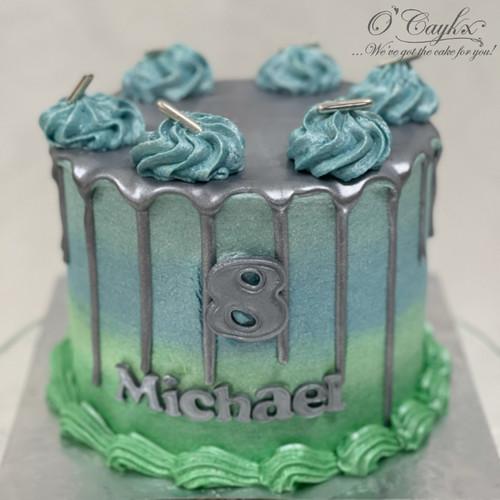 Metallic Ombre Drip cake - BC0090