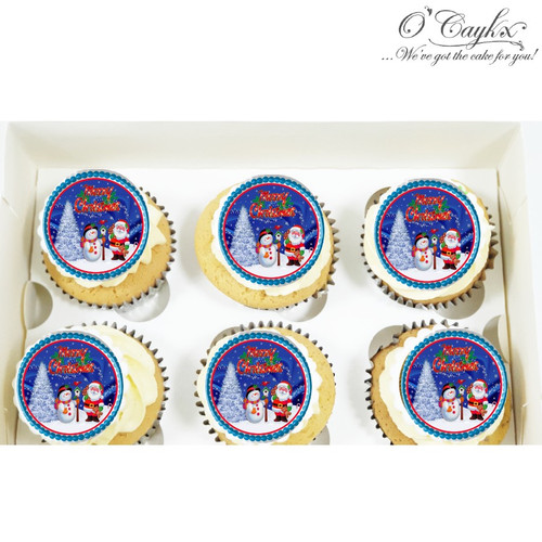 Christmas cupcakes - Toppers 3