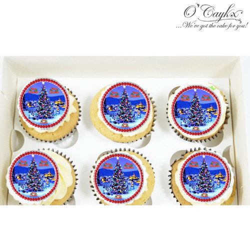 Christmas cupcakes - Toppers 4