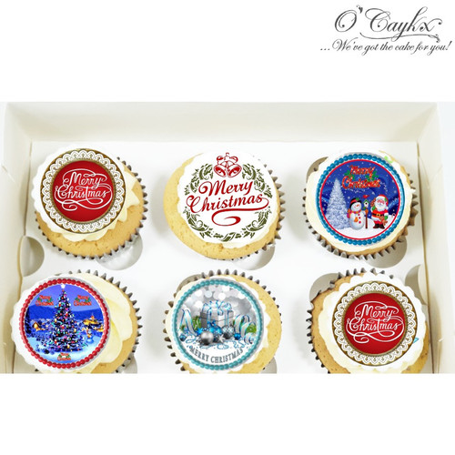 Christmas cupcakes - Mixed Toppers