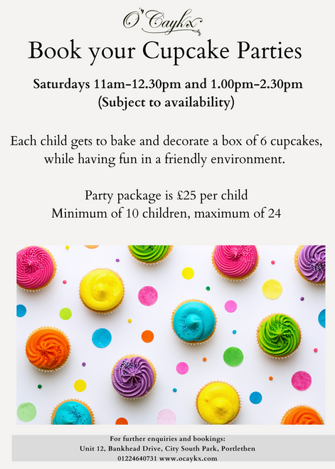 Children's Cupcake Party Booking