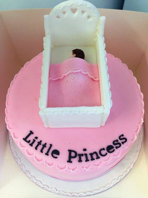 Baby Girl Crib Cake