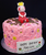 Pink Swirl Buttercream Cake with Peppa Pig