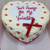 Buttercream Swirl Love heart Cake with Love Heart center