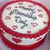 Buttercream Cake with Love Hearts