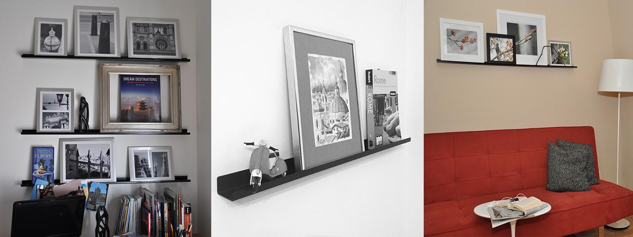 UltraLedge Black Picture ledges