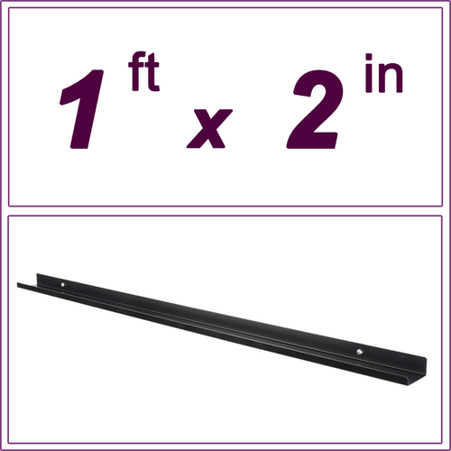 1ft Black Picture Ledge