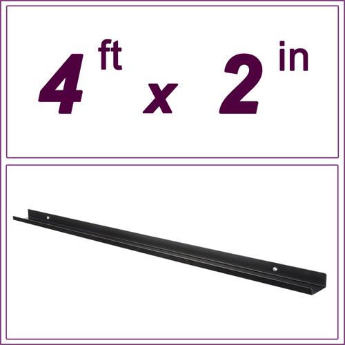 4ft Black Picture Ledge