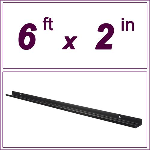 6ft Black Picture Ledge