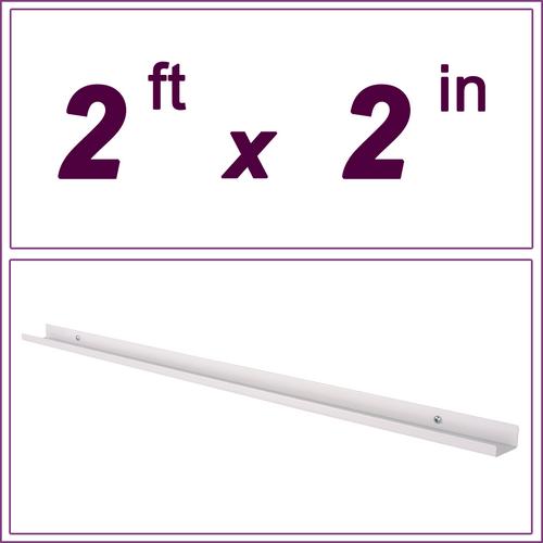 2ft White Picture Ledge