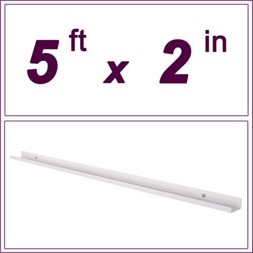 5ft White Picture Ledge