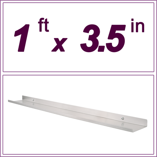 1ft Stainless Steel Picture Ledge