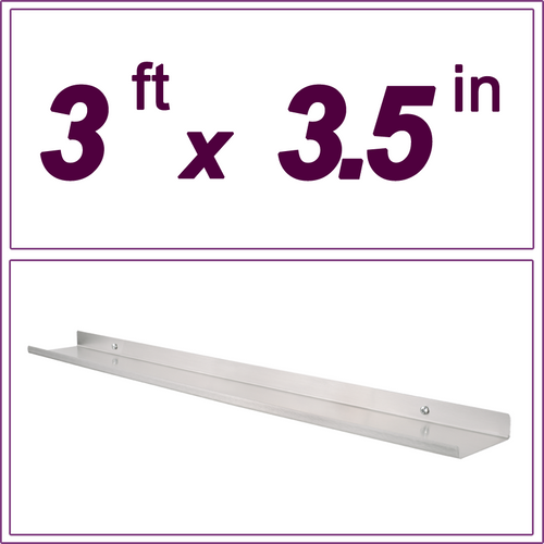 3ft Stainless steel picture ledge